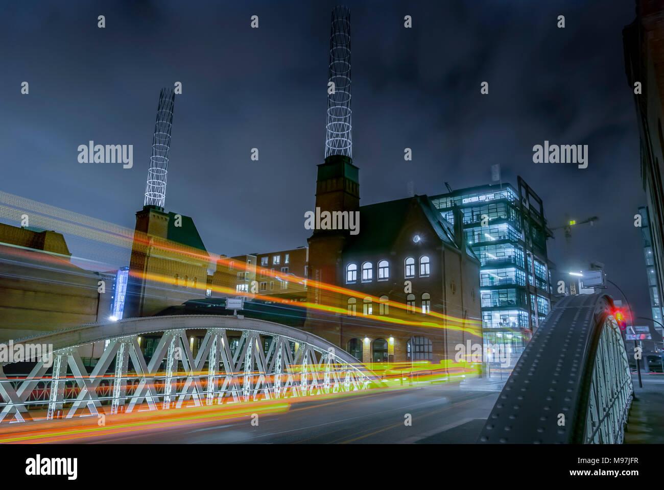 Deutschland, Hamburg, Speicherstadt, Sandbrücke, Kesselhaus Stockbild