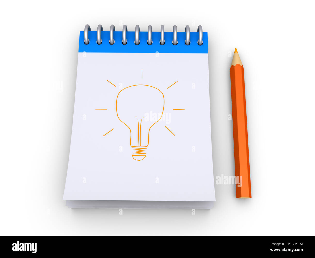 3d Editor Mit Einer Glühbirne Und Einem Bleistift Gezeichnet