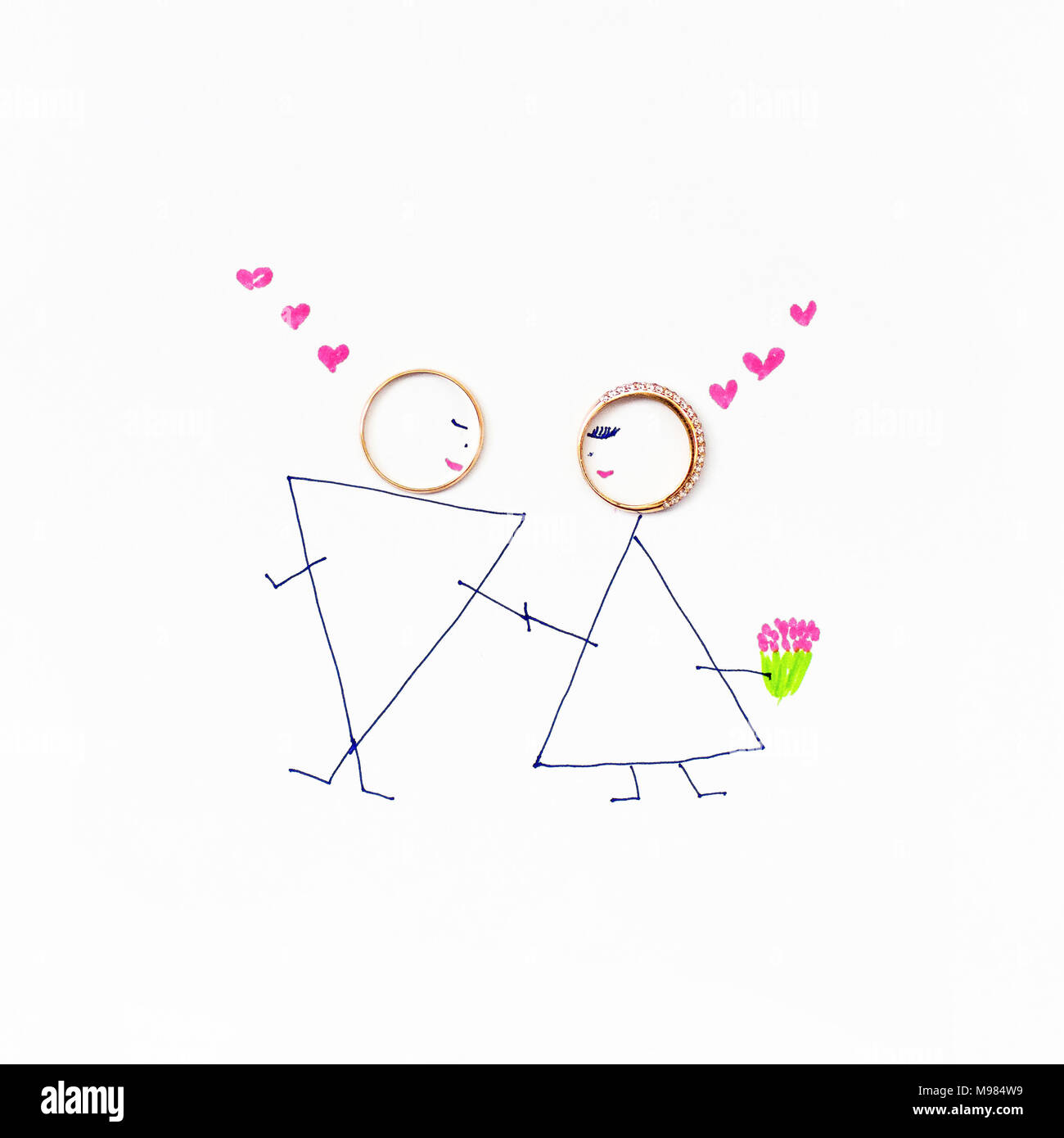 Braut Und Brautigam Ein Bild Von Der Hochzeit Ringe Durch Braut
