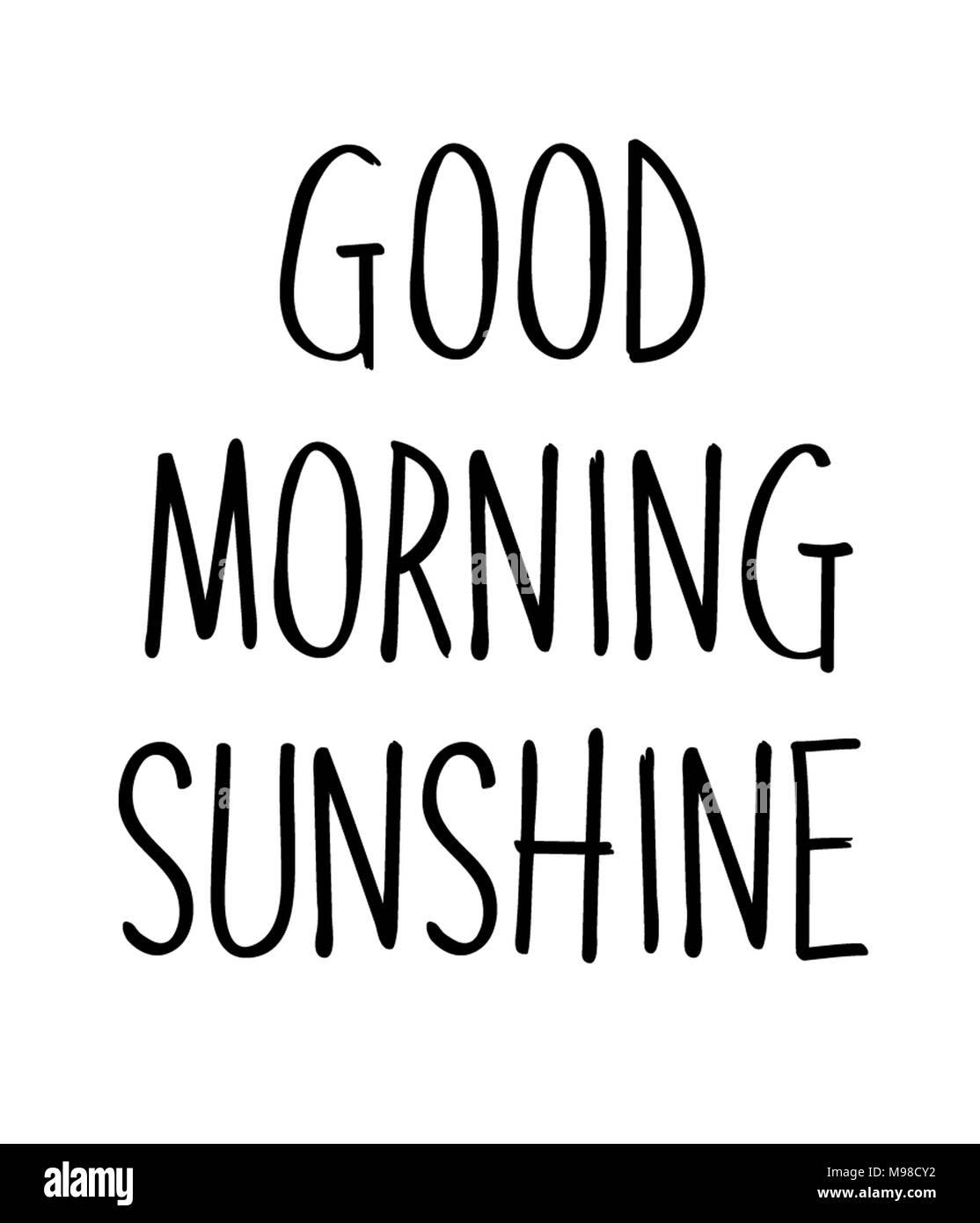Guten Morgen Sonnenschein Stockfoto Bild 177821366 Alamy
