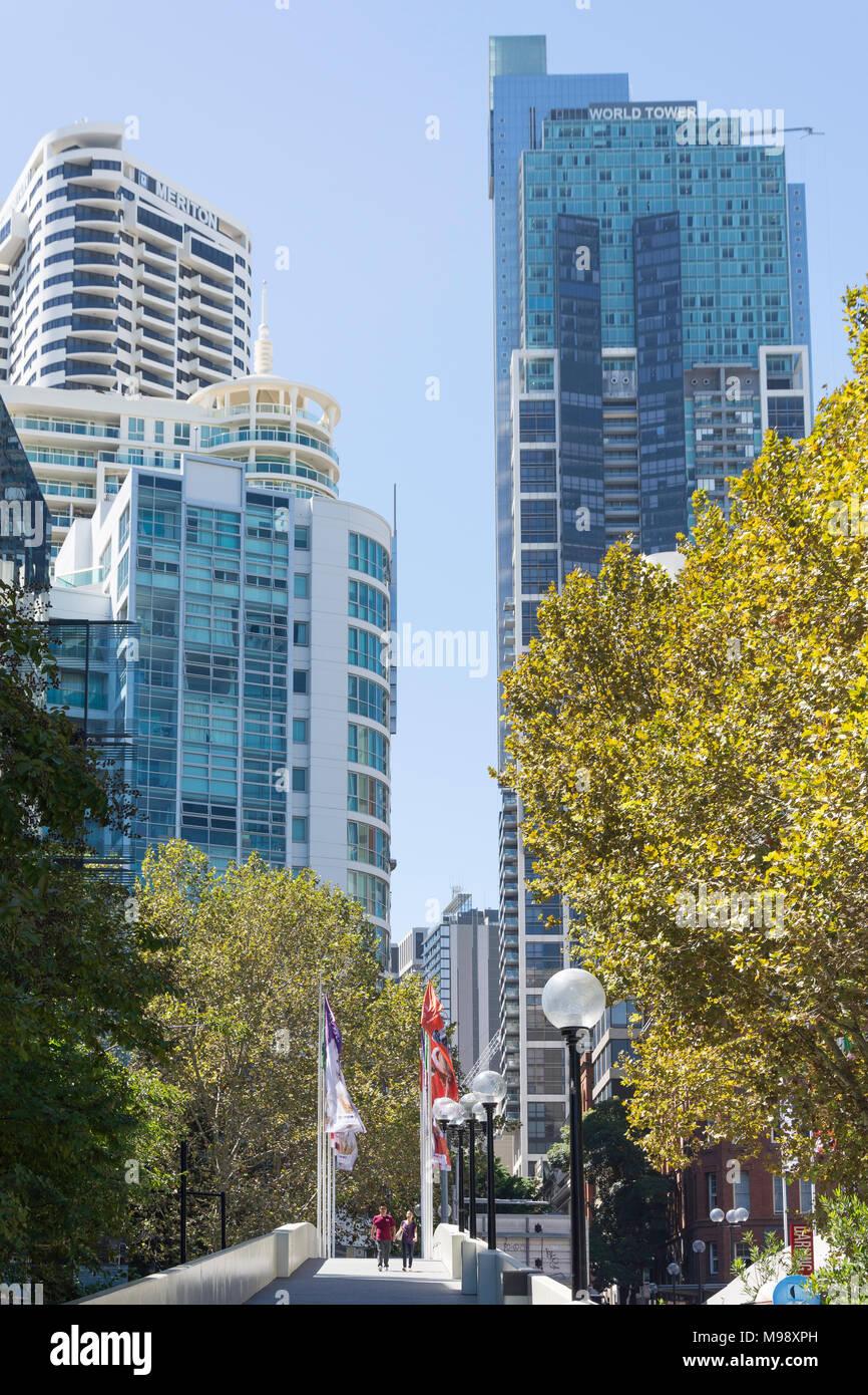 Central Business District Hochhäuser von Darling Harbour, Sydney, New South Wales, Australien Stockbild
