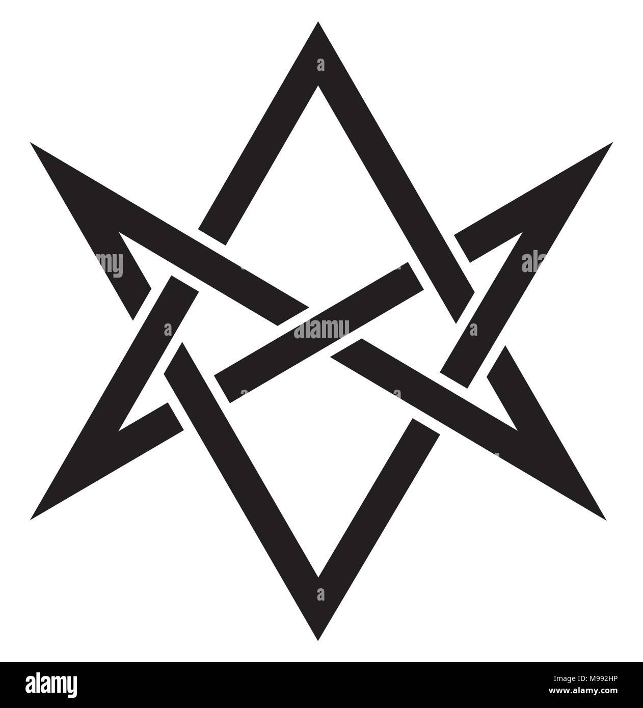 Hexagrammum Mysticum Unicursal Hexagramm Die Hörner Von
