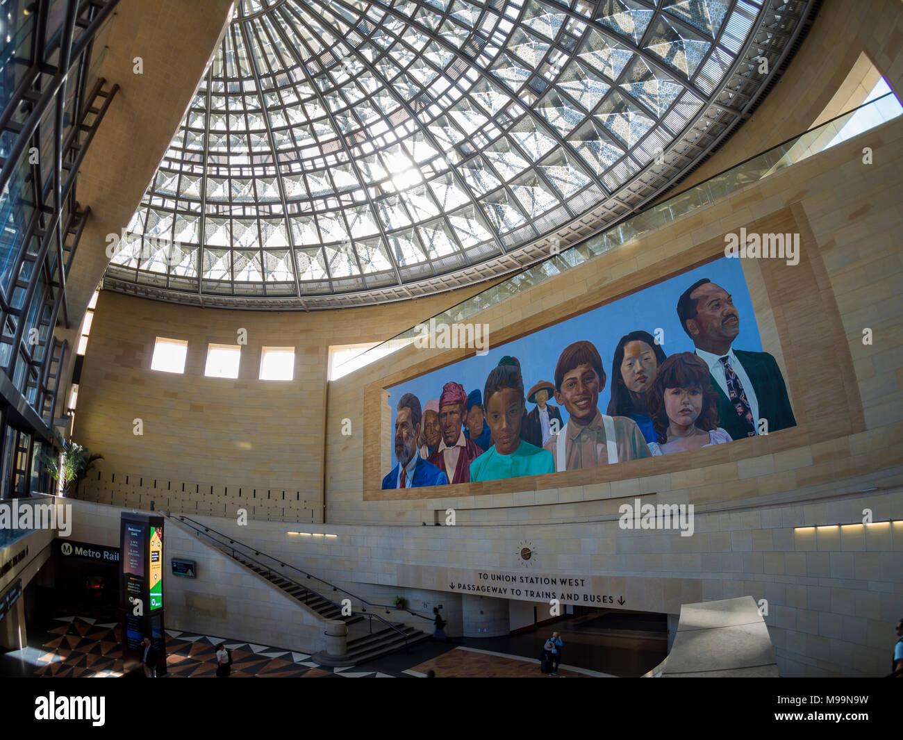 Los Angeles, Feb 3: Innenansicht des berühmten Union Station am Mar 3, 2018 in Los Angeles Stockfoto