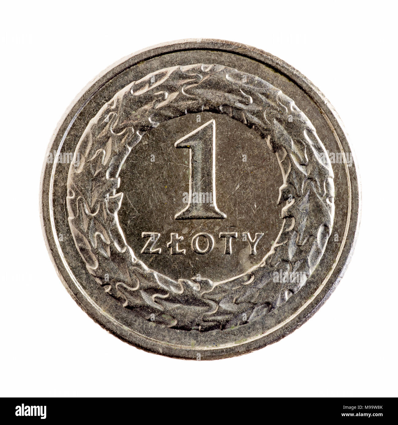 Polen 1 Zloty Münze Stockfoto Bild 177852995 Alamy