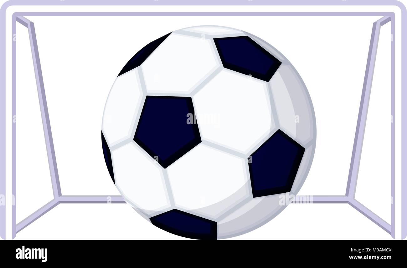 Comic Fussball Fussball Spiel Ziel Symbol Vektor Abbildung