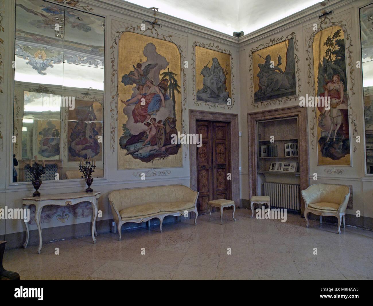 Das elegante interieur des palazzo giardino giusti verona