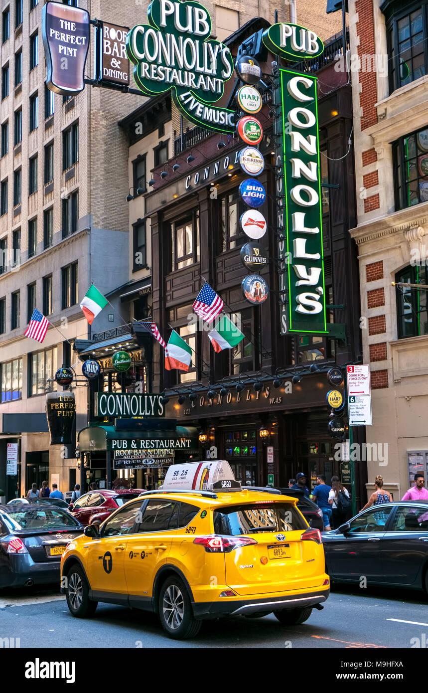 New York City, irischen Restaurant Stockbild