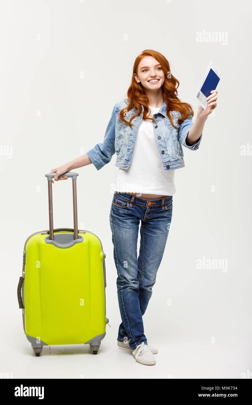 6 Schilder, die Sie einer Frau mit Gepäck datieren