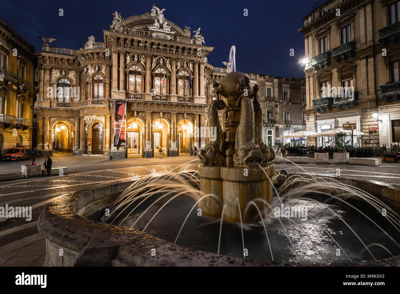 Bellini in Catania, Sizilien, Italien. Stockbild