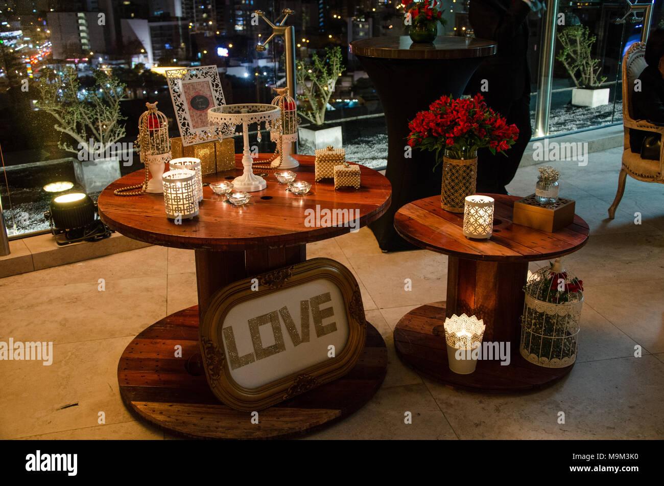 Vintage Hochzeit Dekoration Mit Liebe Bilder Stockfoto Bild