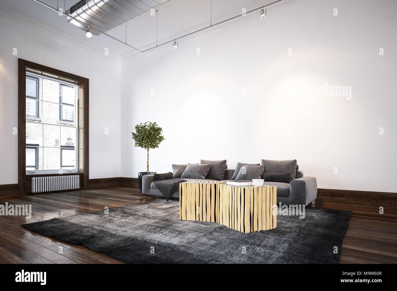 Groß Wohnzimmer Offene Decke Zeitgenössisch - Schlafzimmer Ideen ...