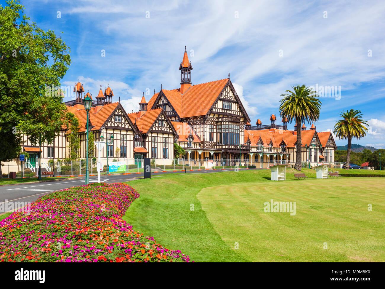 Neuseeland rotorua Neuseeland Rotorua Museum im Tudor Stil Government Gardens Rotorua Stadt North Island, Neuseeland Stockbild