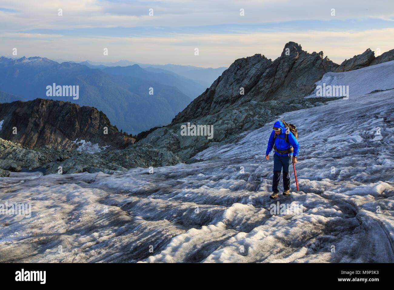 Klettergurt Für Gletscher : Bergsteiger auf gletscher am mount shuksan north cascades national