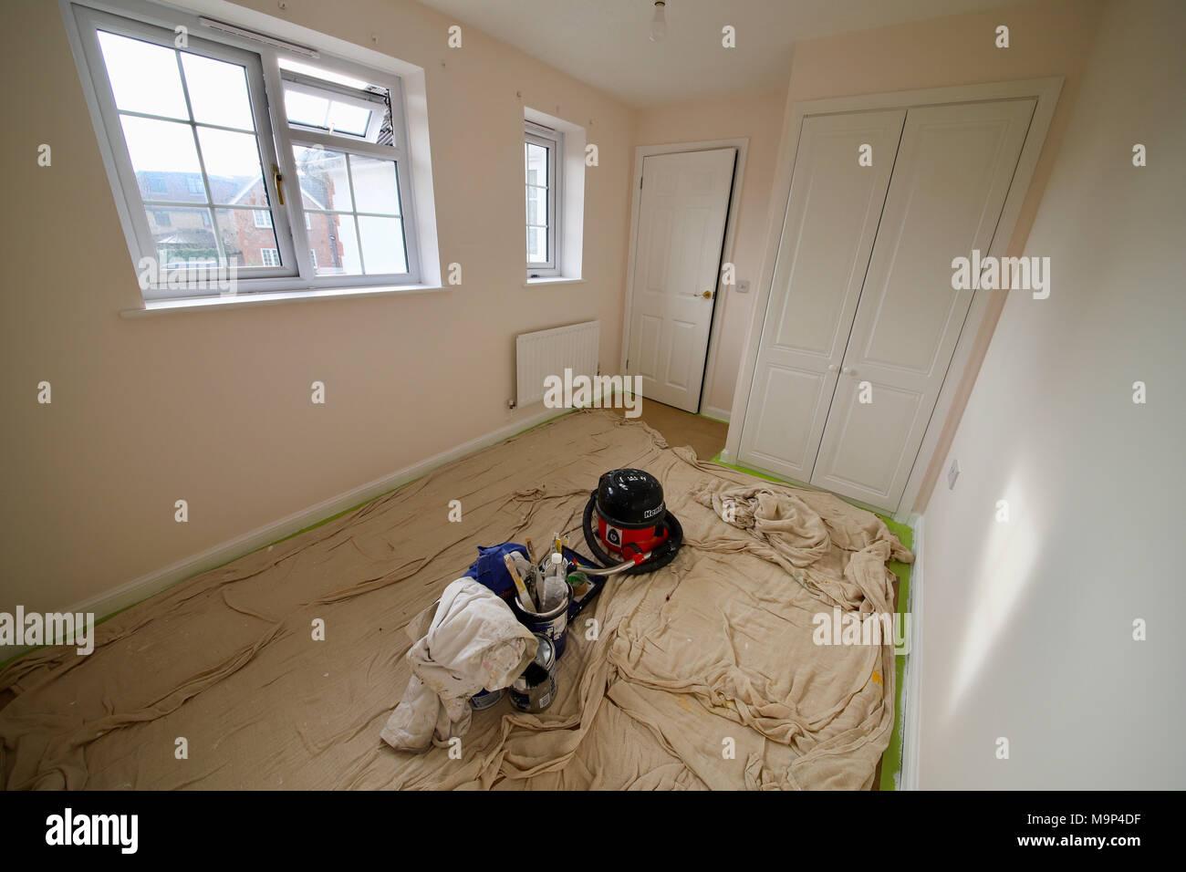 UK Ostern Feiertag/Ferien Tochter Schlafzimmer Renovierung Projekt ...