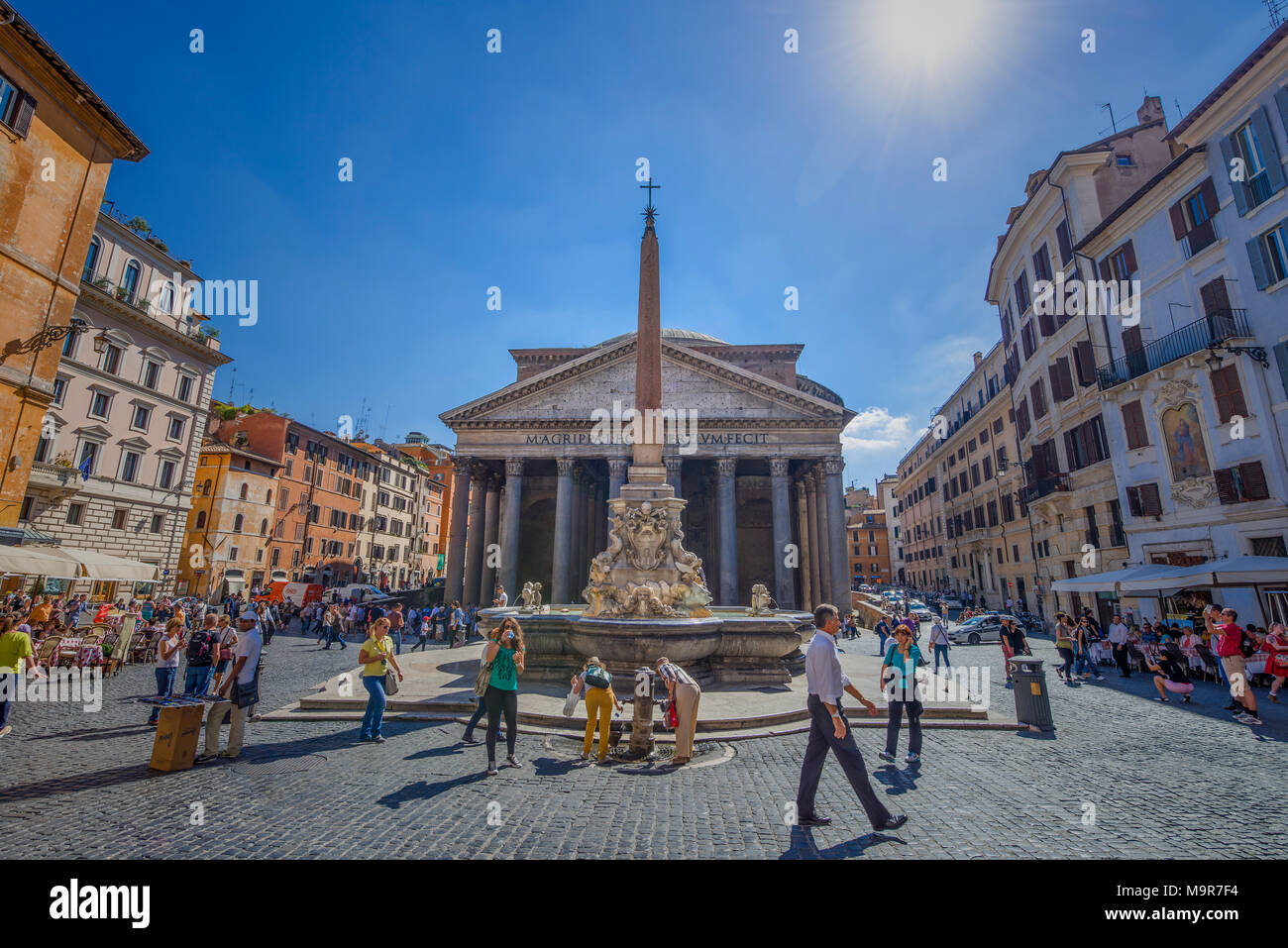 Europa, Italien, Rom, Pantheon, Piazza della Rotonda, Pantheon Stockbild