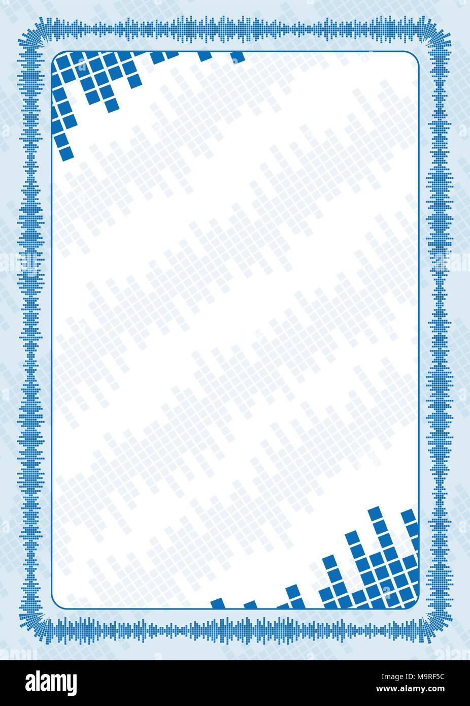 Vektor Rahmen und Grenze mit blauen Lautstärke für Diplom ...