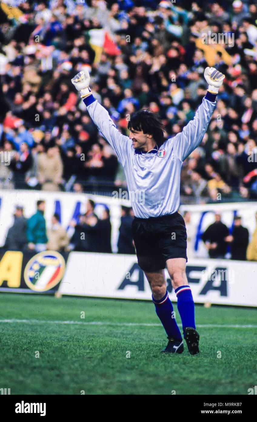 Walter Zenga, Italien, 1989 Stockbild