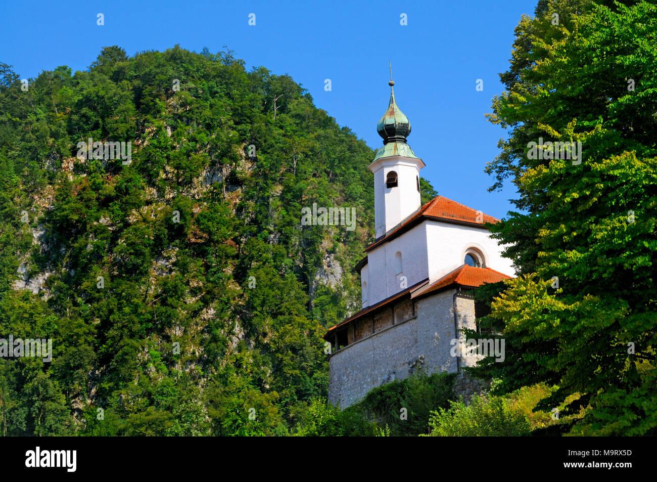 Kamnik, Gorenjska, Slowenien. Mali Grad (kleine Burg) Stockbild