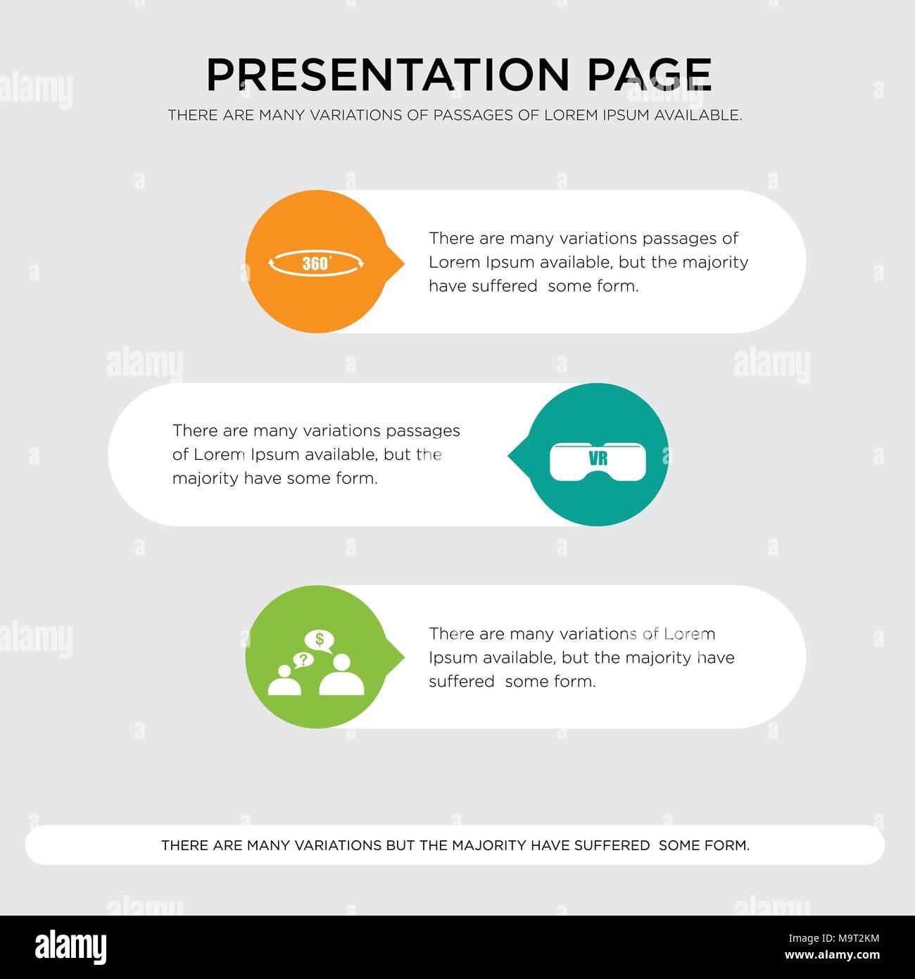 Ein Angebot Anfordern Vr Headset 360 Presentation Design Vorlage