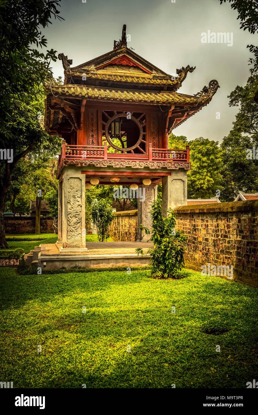 Asien, Vietnam, Hanoi /, Tempel, Literaturtempel, Garten, Khuc Van Stockbild