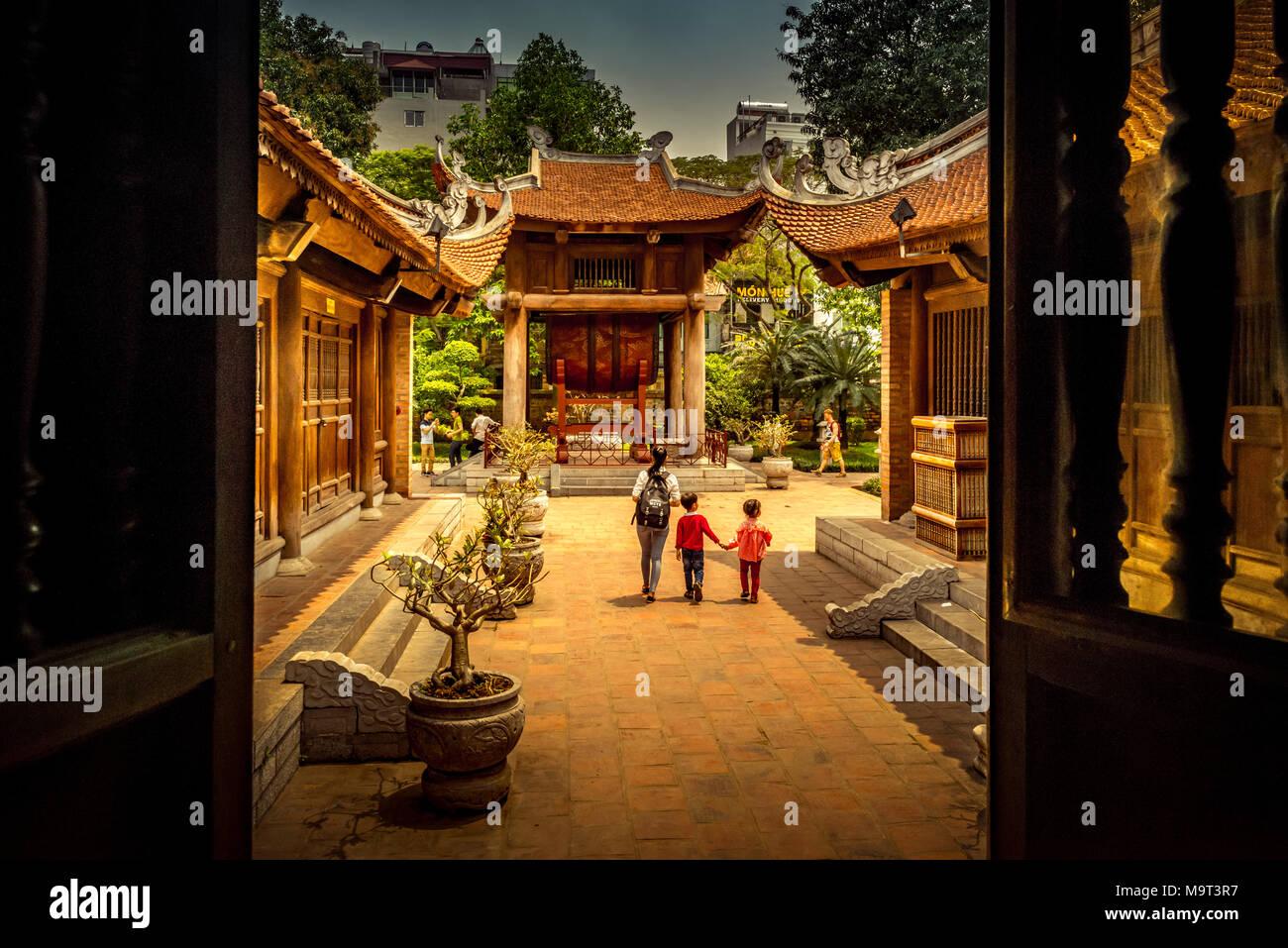 Asien, Vietnam, Hanoi /, Tempel, Literaturtempel Stockbild