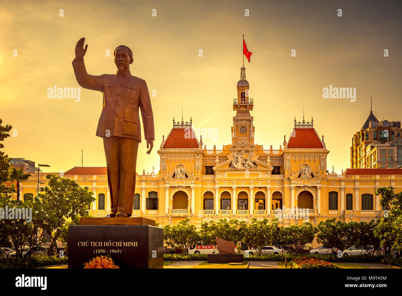 Asien, Südostasien, Südvietnam, Vietnam, Saigon, Ho Chi Minh Stadt, Rathaus Stockbild