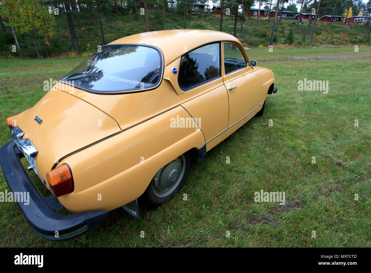 Classic Saab 96 Stockbild
