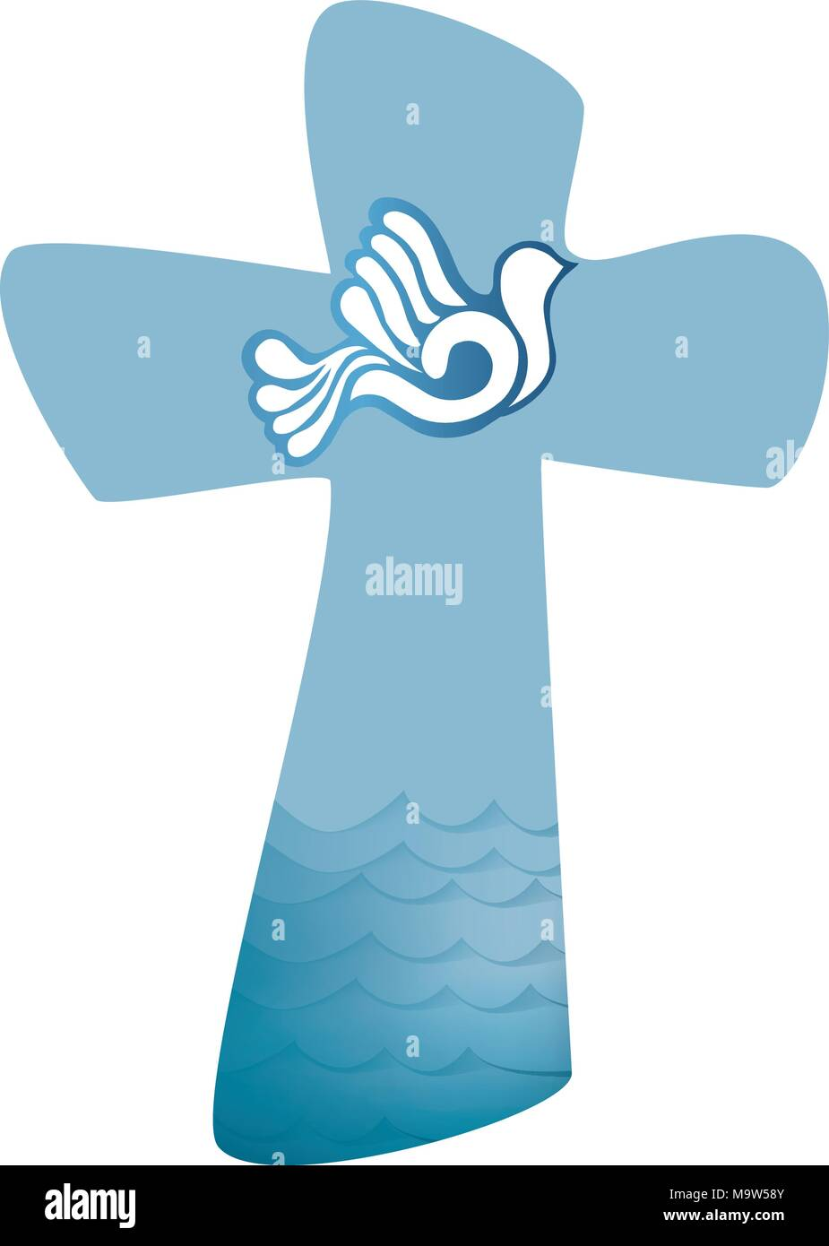 Christliche Kreuz Taufe Heiligen Geist Symbol Mit Taube Mit