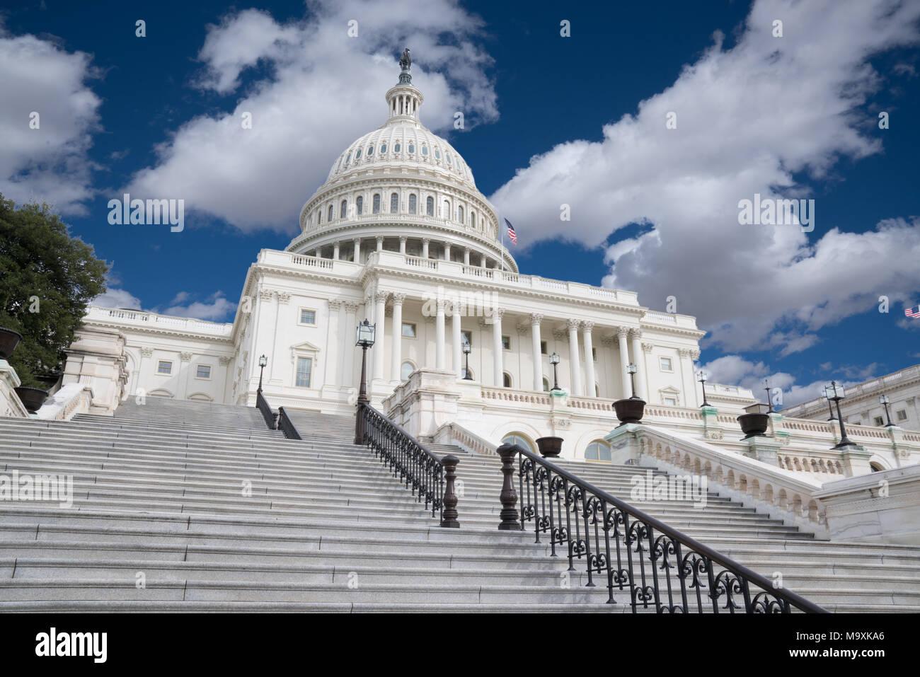 Schritte des United States Capitol in Washington, DC Stockbild