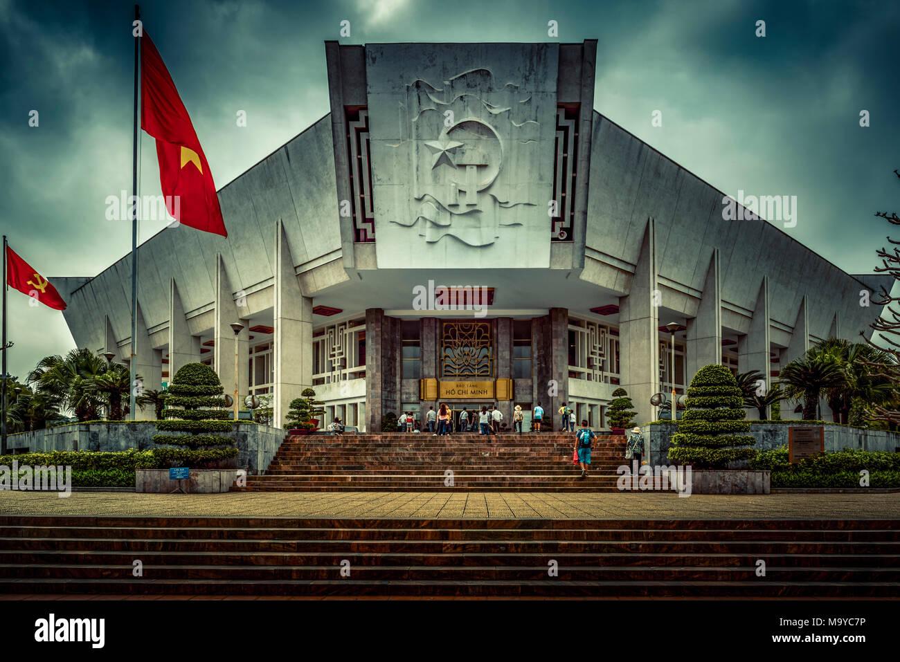 Hanoi, Vietnam, Südostasien, Asien, Ho Chi Minh, Museum, Bao Tang Stockbild