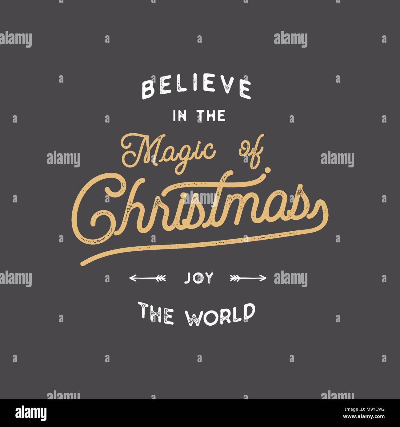 Frohe Weihnachten Schriftzug. Lassen Sie es schneien Typografie ...