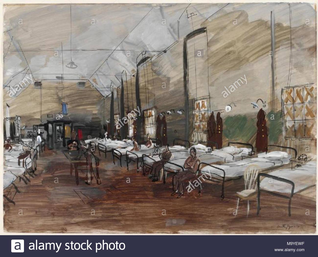 Krankenhaus Bild Betten Zeile Beide Seiten Einer Krankenstation