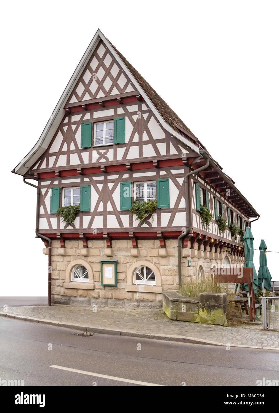 Historisches Fachwerkhaus in der Stadt namens Gaildorf im Süden ...