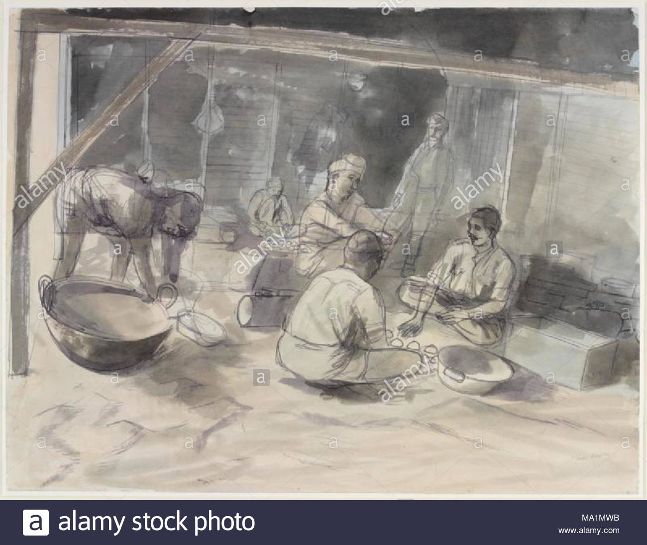 Ein Hindu Küche - riasc 8., 10. und 12 indischen Maultier Coys ...