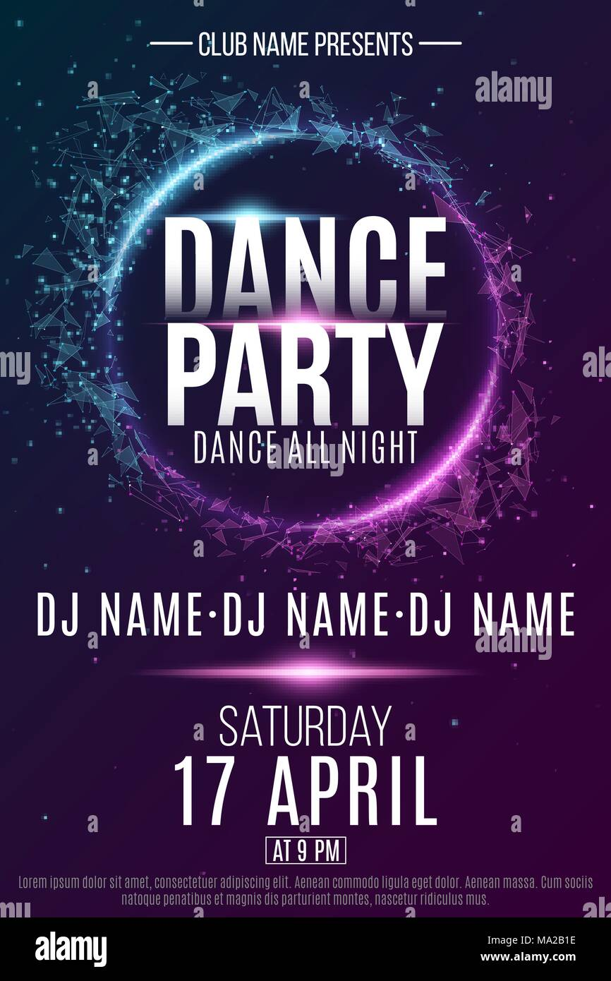 Dj Music Party Poster Background Stockfotos & Dj Music Party ...