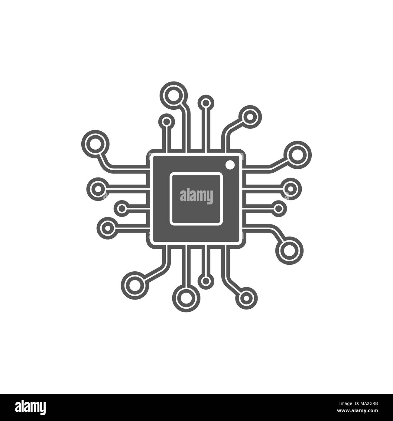 Cpu Icon Microprocessor Processor Symbol Stockfotos & Cpu Icon ...