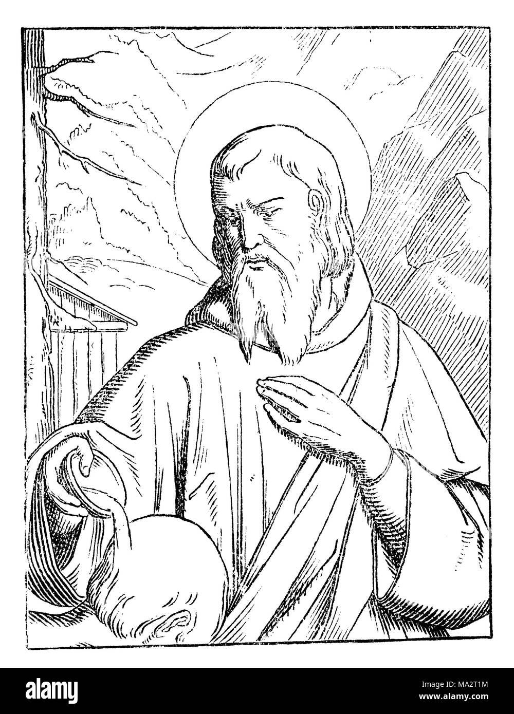 Saint Valentin, Valentine, Priester und Märtyrer, Bischof Valentin von Terni, der Bischof von Terni Interamna (jetzt), Namensgeber der Valentinstag Stockbild