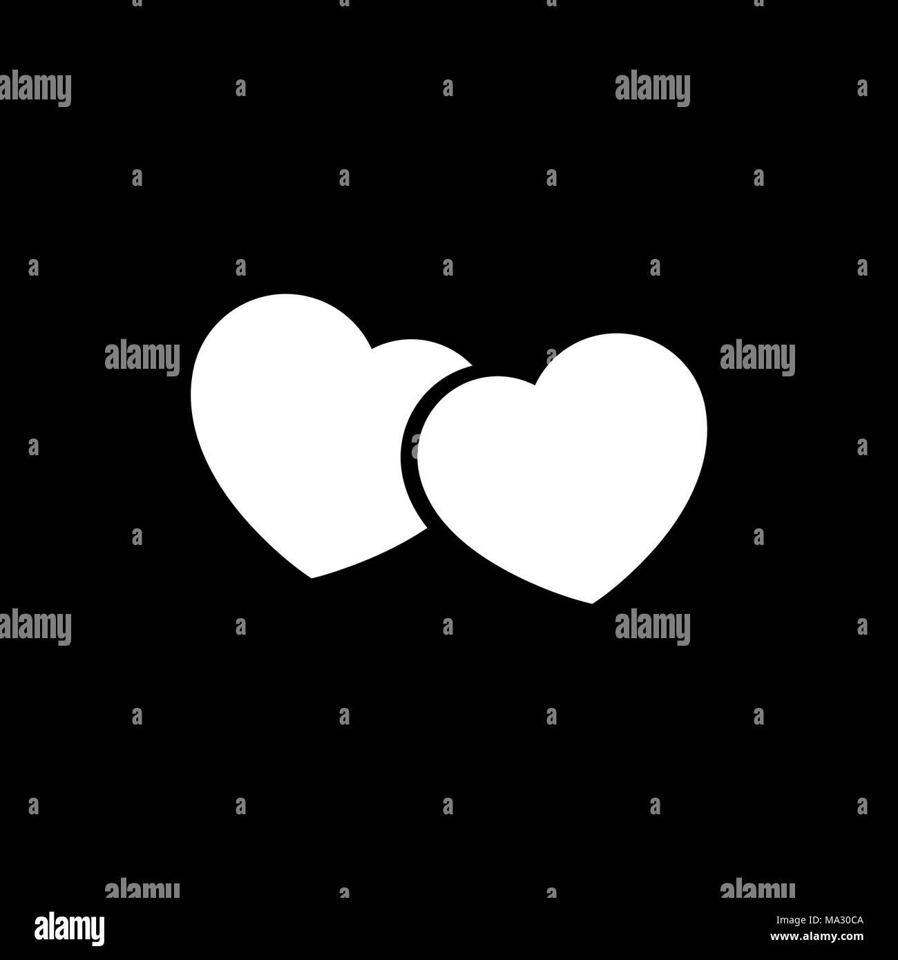 Herz Symbol einfache Flat Style Vector Illustration. Herz online ...