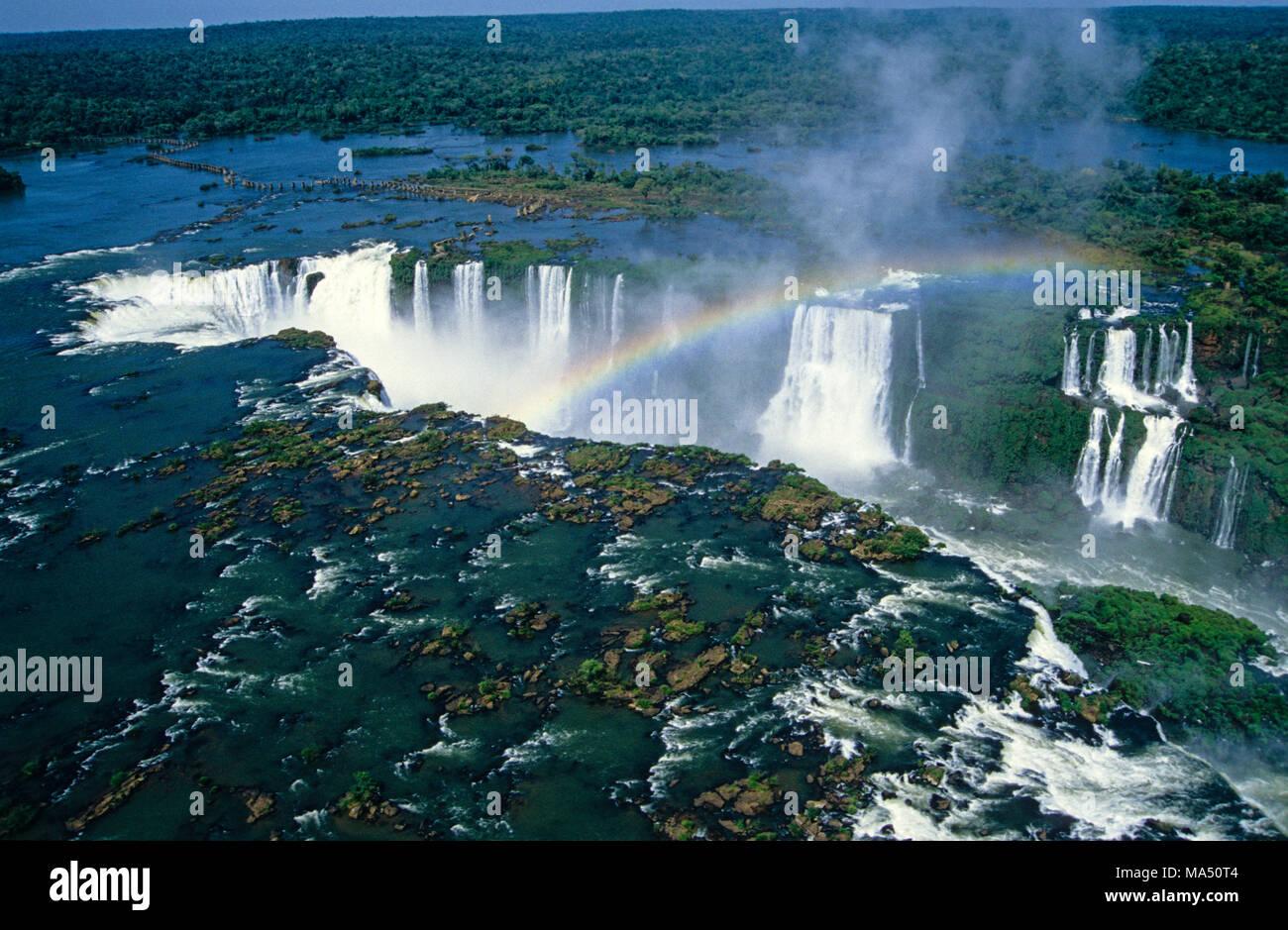 Die Iguazu Wasserfälle, Paraná, Brasilien, Südamerika Stockfoto