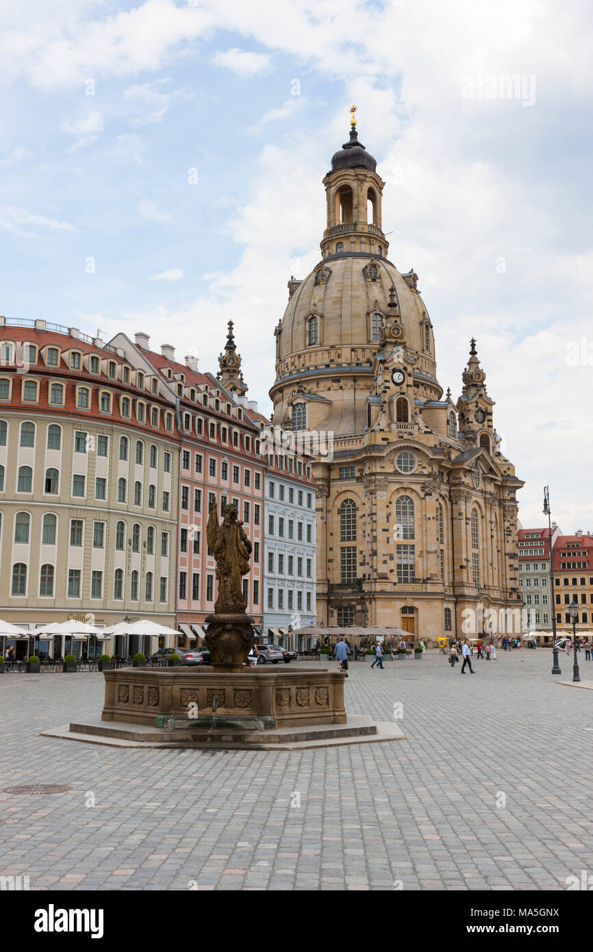 Die Frauenkirche in Dresden, Sachsen, Deutschland Stockbild