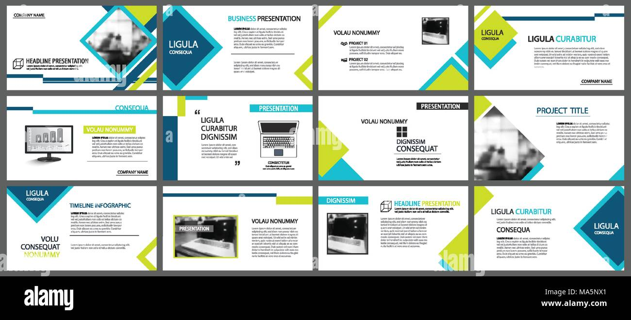 Blaue und grüne Element für Folie Infografik für den Hintergrund ...