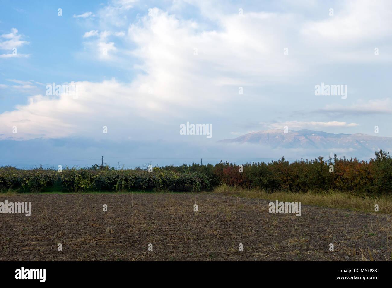 Die schöne Landschaft in der Nähe von Edessa, Griechenland Stockfoto