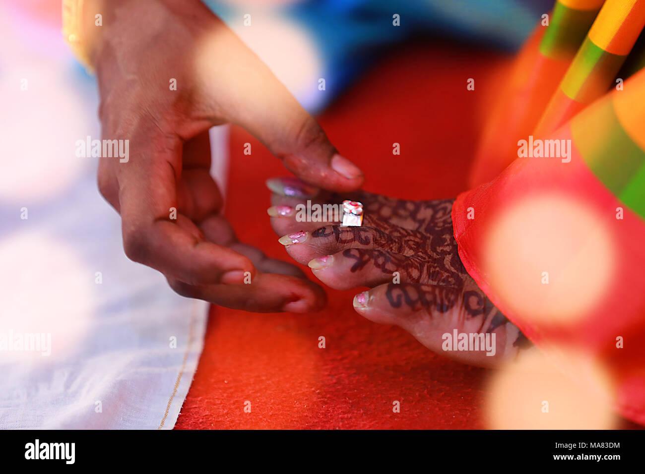 Indische Hochzeit Rituale Der Braut Und Brautigam Mit Hochzeit
