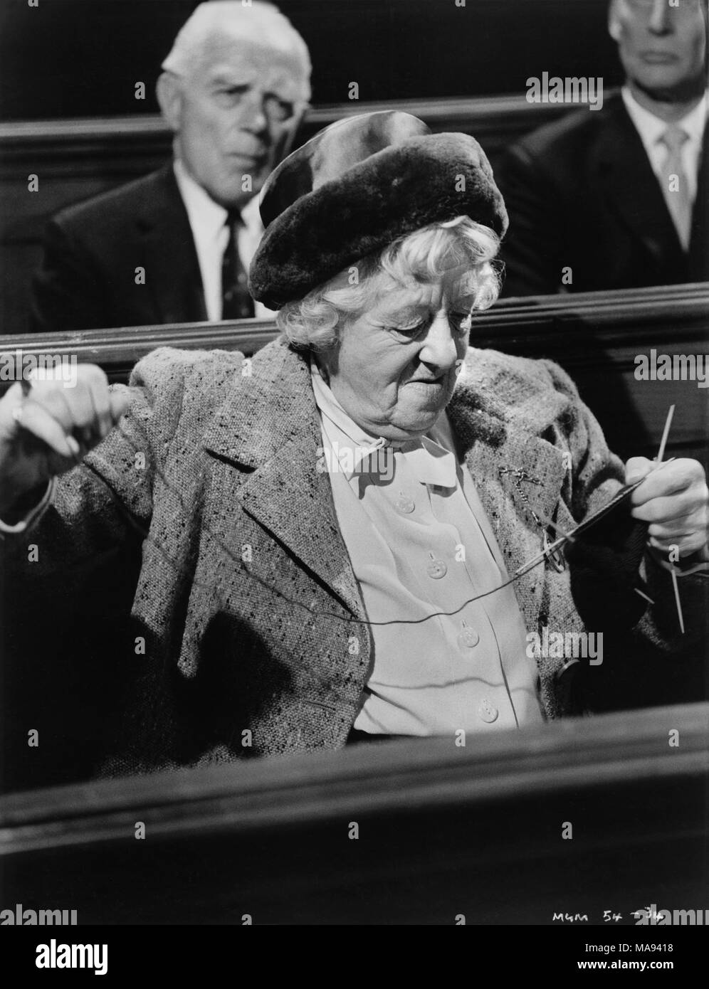 "Margaret Rutherford, Werbung, Portrait, der British Film"", die V.I.P.'S"" (alias Hotel International), MGM, 1963 Stockbild"
