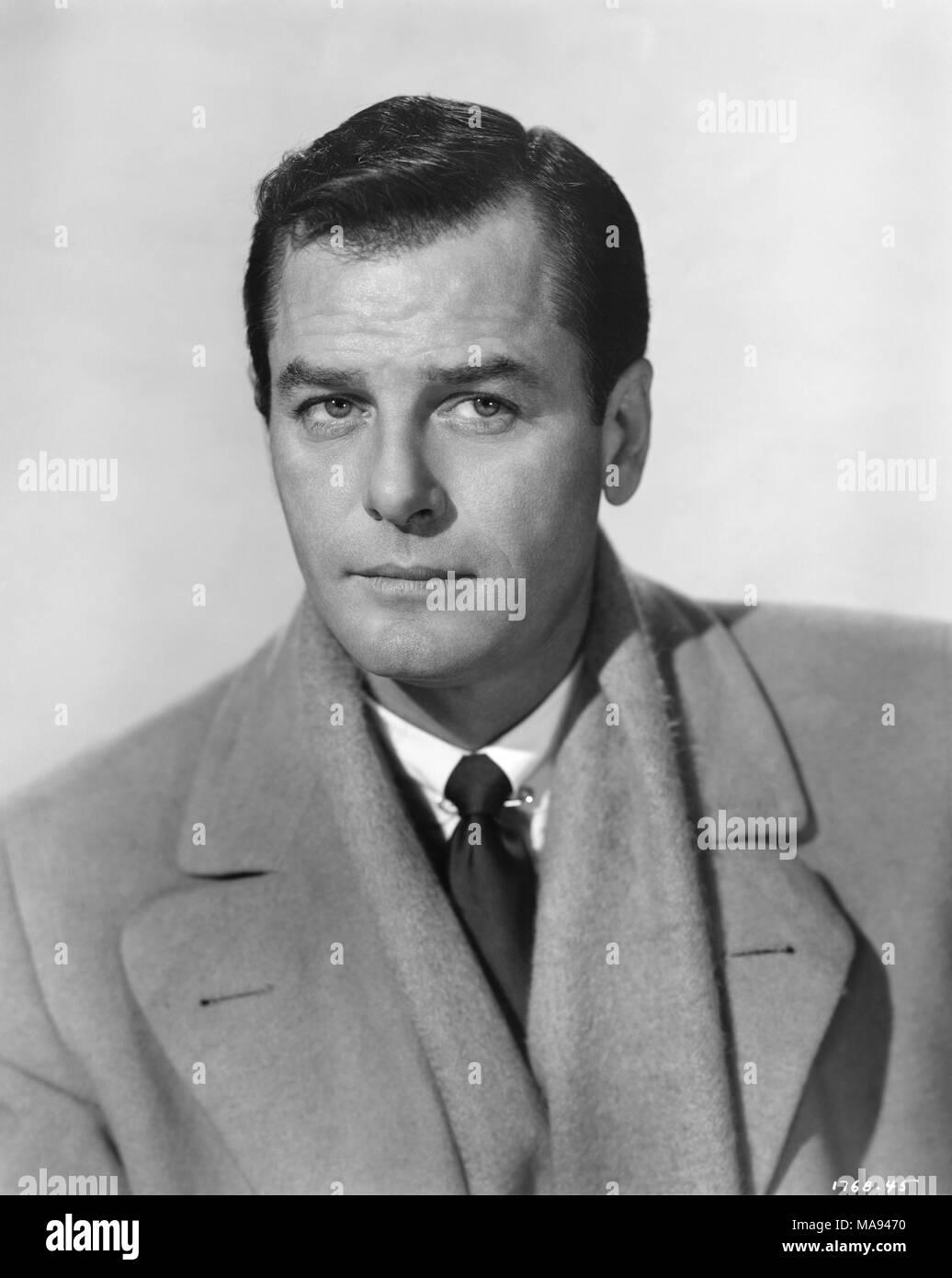 Schauspieler Gig Young, Werbung, Portrait, 1950er Jahre Stockbild