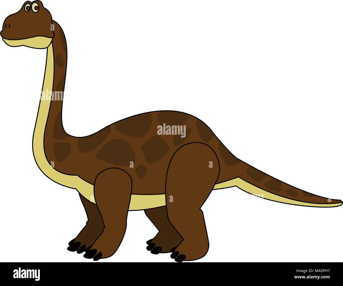 Große Dinosaurier Cartoon Vektor Abbildung Bild 178547859 Alamy
