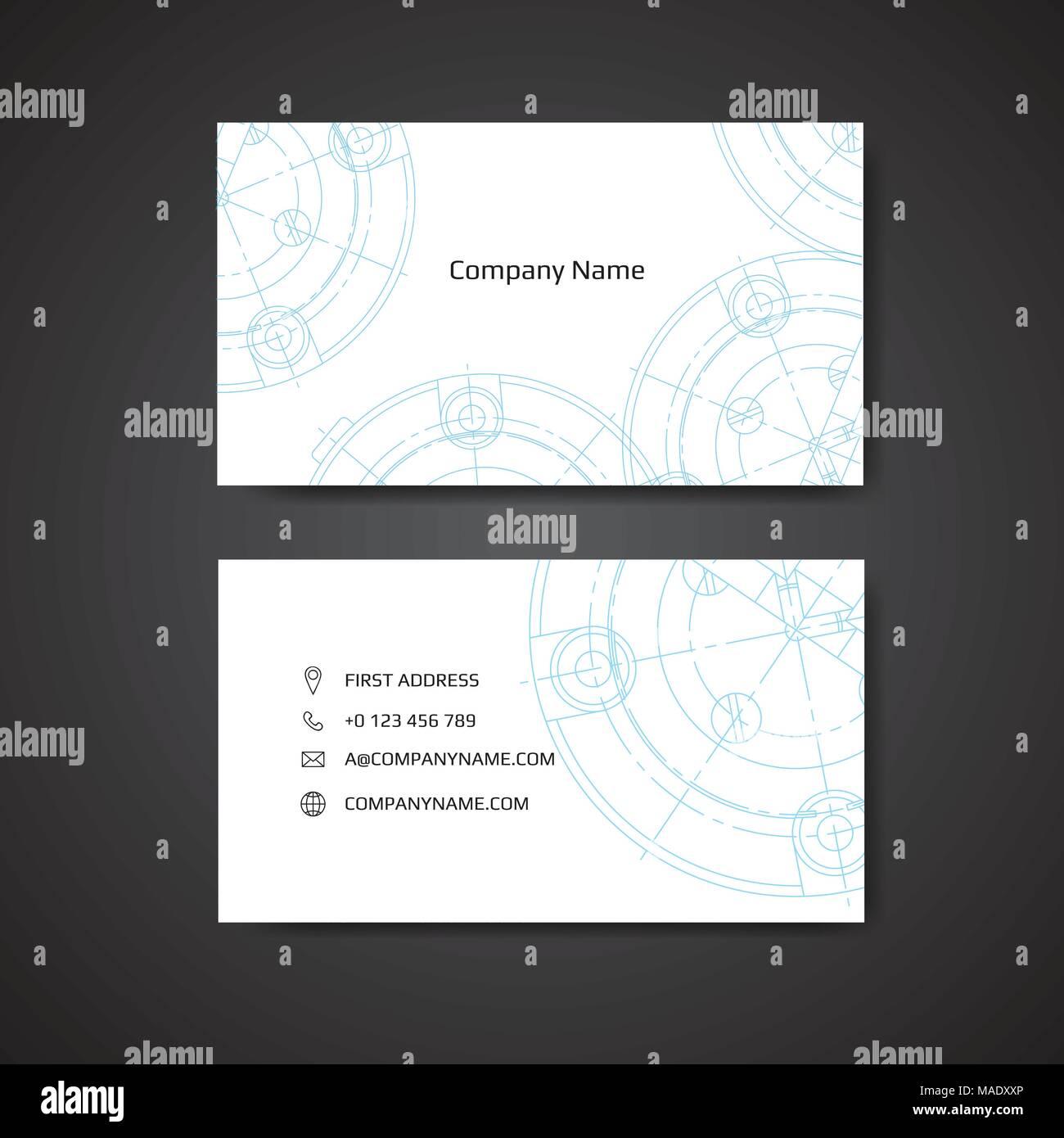 Visitenkarte Für Techniker Und Mechanisch Engineering