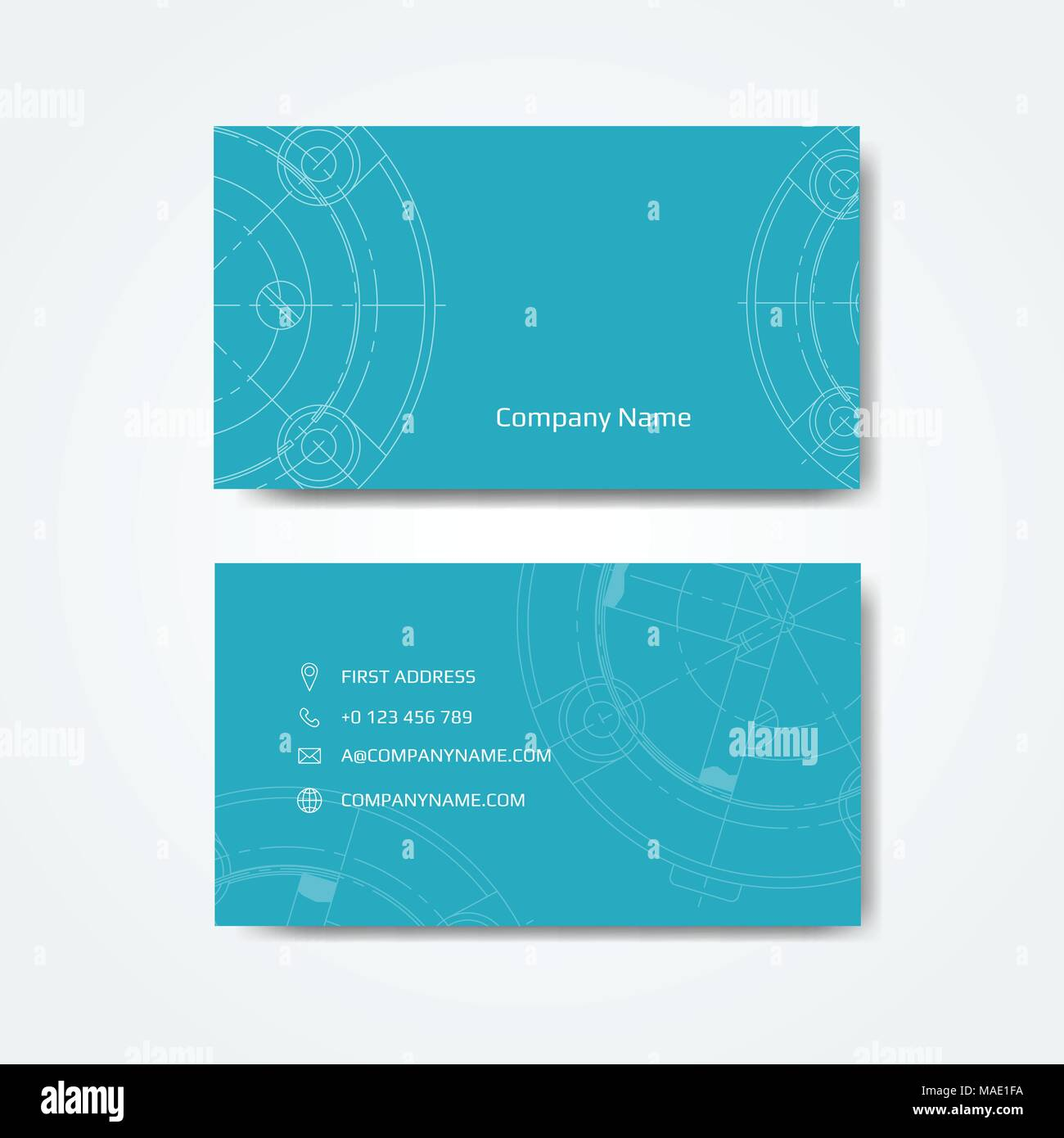 Visitenkarte Für Den Techniker Vector Illustration Vektor