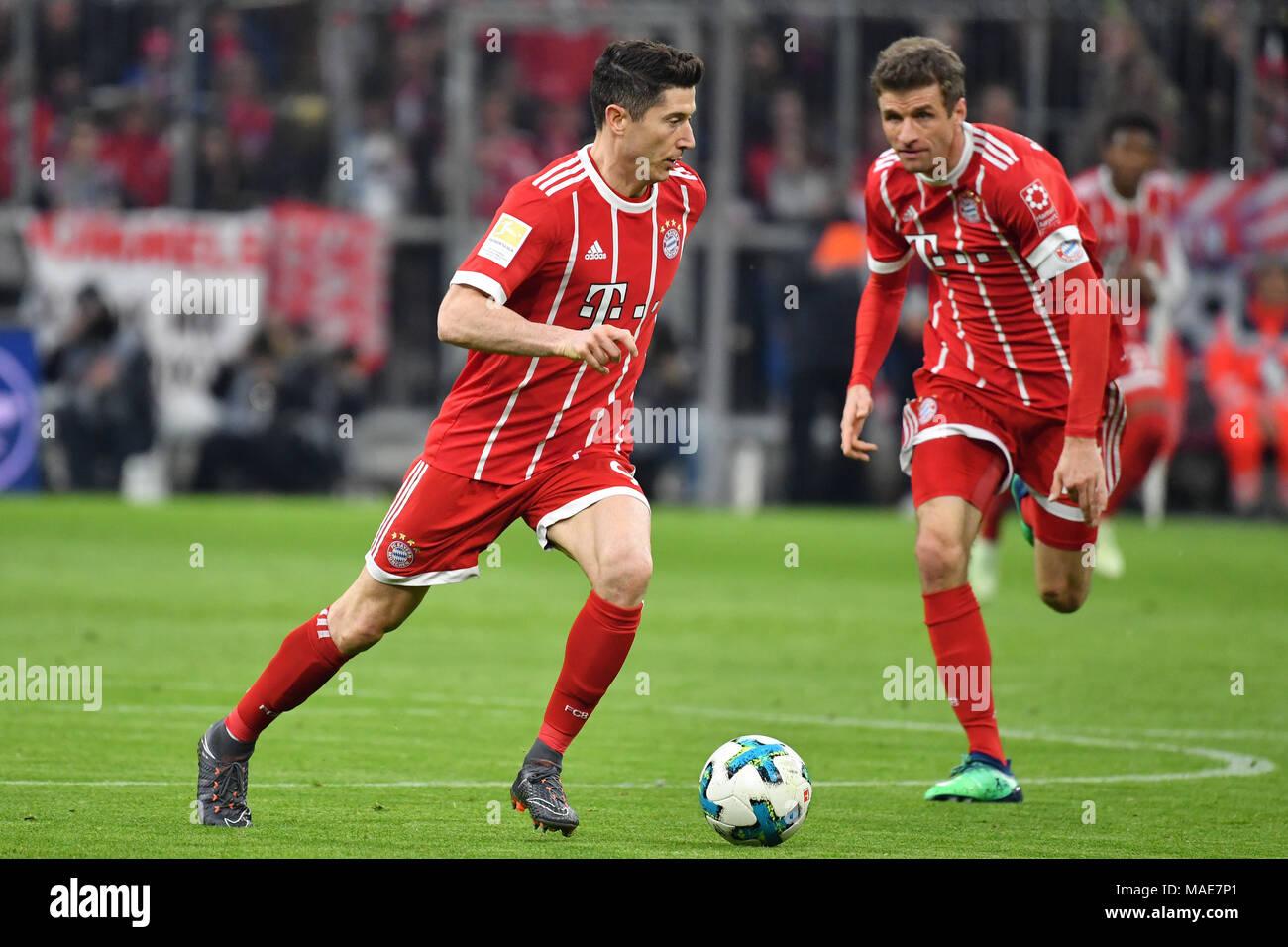 Muenchen Deutschland 31 Mär 2018 Robert Lewandowski Fc Bayern