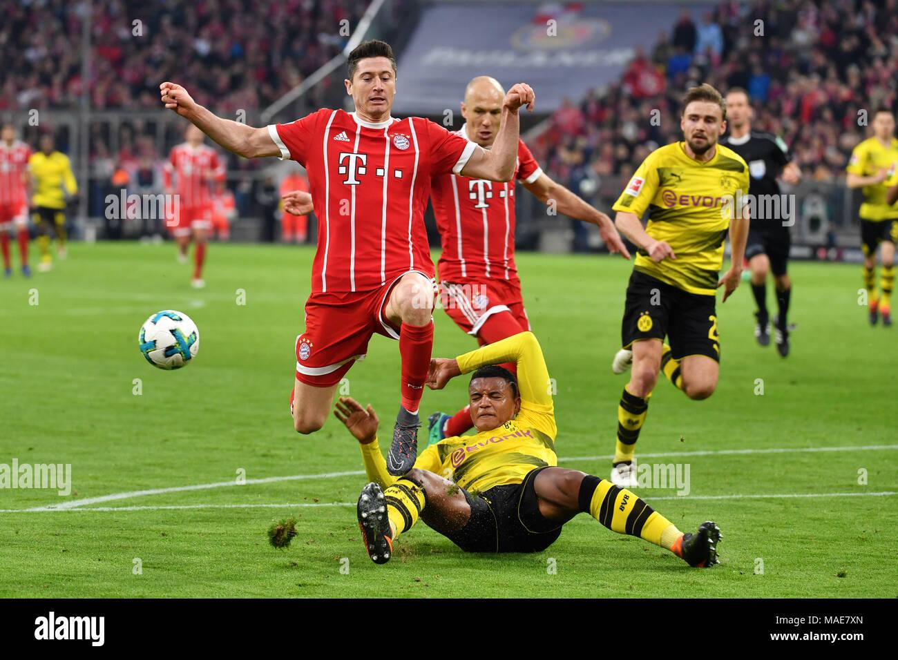 Muenchen Deutschland 31 Mär 2018 Manuel Akanji Borussia